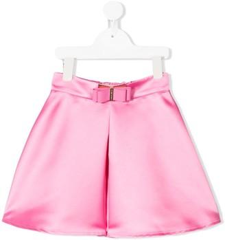 Elisabetta Franchi La Mia Bambina Ribbon-Detail Flared Skirt