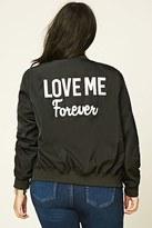 Forever 21 FOREVER 21+ Plus Size Love Me Bomber Jacket