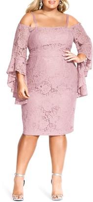 City Chic Mystic Lace Dress (Plus Size)