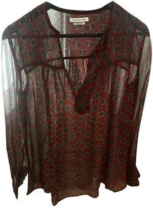 Etoile Isabel Marant Burgundy Silk Top for Women