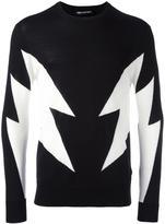 Neil Barrett lightning pattern jumper - men - Wool/Merino - M