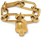 Undercover Skull Gold-Tone Chain Bracelet