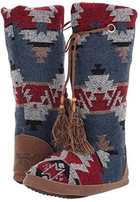 M&F Western Ava Boot Slipper (Red/Blue/Multi) Women's Boots