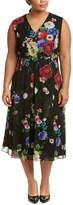 Marina Rinaldi Plus Desideri Silk Shift Dress