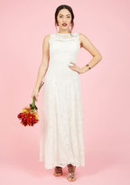 ModCloth Ready, Set, Romance Maxi Dress in Ivory in S