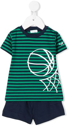 Il Gufo striped T-shirt and shorts set