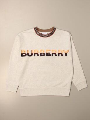 Burberry Cotton Sweatshirt With Sweets Logo Print
