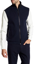 Kenneth Cole New York Felted Mock Neck Zip Jacket