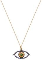 Ileana Makri Sapphire, tsavorite & yellow-gold necklace