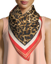 Vince Camuto Silk Racing Leopard Square Scarf