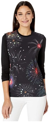 Paul Smith Long Sleeve Fireworks T-Shirt (Black) Women's Clothing