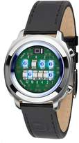 01 The One 01TheOne Men's ZE107B1 Zerone Blue LED Black Leather Watch