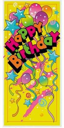 Unique Industries Plastic Happy Birthday Party Door Poster, 60 x 27in