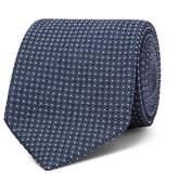 Tom Ford 8cm Pin-dot Silk-blend Jacquard Tie - Storm blue
