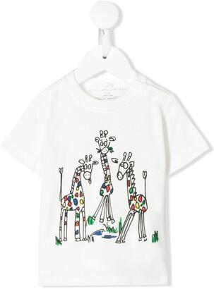 Stella McCartney giraffe print T-shirt