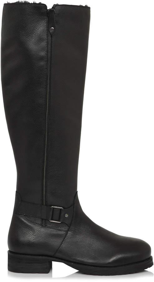 7b2bb4dd311 Long Tall Sally LTS Kaylee Faux Fur Trim Leather Tall Boot