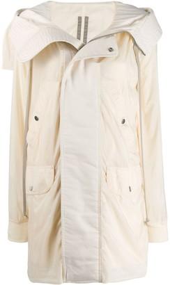 Rick Owens Open Collar Rain Coat