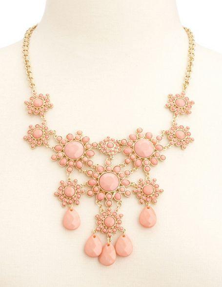 Charlotte Russe Sunburst Cluster Statement Necklace