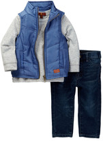 7 For All Mankind Vest, Long Sleeve Tee, & Jean 3-Piece Set (Baby Boys)