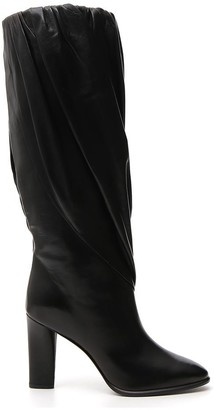 Givenchy Pleated Chunky Heel Boots