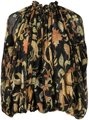 Lanvin Animals print blouse