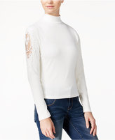 American Rag Crocheted-Sleeve Knit Top, Only at Macy's