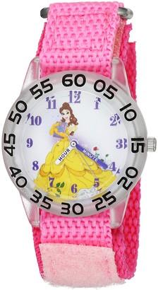 Disney Girls Princess Belle Analog-Quartz Watch with Nylon Strap