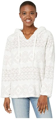 True Grit Dylan by Plush Nordic Pullover with Sherpa Hood (Oatmeal) Women's Clothing