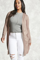 Forever 21 FOREVER 21+ Plus Size Purl Knit Cardigan