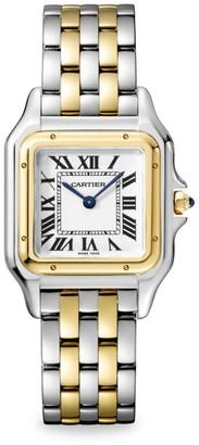 Cartier Panthere de Medium Stainless Steel & 18K Yellow Gold Bracelet Watch