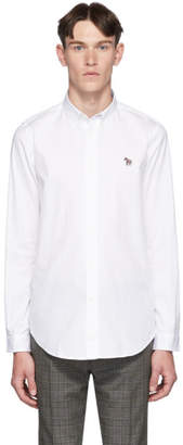 Paul Smith White Zebra Tailored-Fit Shirt