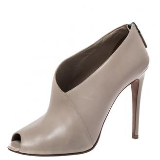 Prada Grey Leather Boots