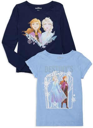 Disney Little Girl's 2-Pack Disney's Frozen 2 T-Shirts