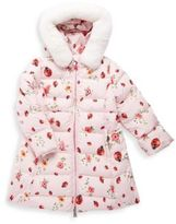 Dolce & Gabbana Toddler, Little and Big Girl's Ladybug Puffer Jacket