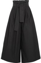 Fendi Cotton-taffeta Culottes - Black