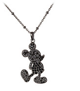Disney Mickey Mouse Silhouette Necklace by Rebecca Hook