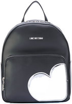 Love Moschino heart patches backpack - women - Polyurethane - One Size