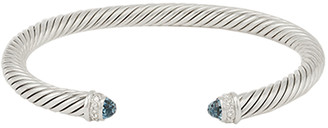 David Yurman 5mm Cable Bracelet (Blue Topaz)