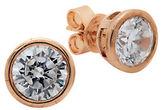 Crislu Rose Goldtone Splash Earrings, 3.00 TCW