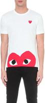 Comme des Garcons Half-heart logo t-shirt