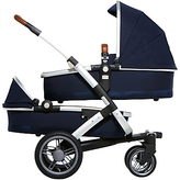 Joolz Geo Twin Pushchair with Carrycot, Parrot Blue