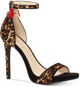 Jessica Simpson Reenah Leopard-Print Two-Piece Heels