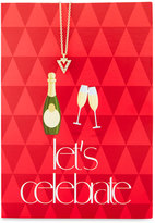Lydell NYC Triangle Necklace with Let's Celebrate Card