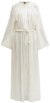 Ann Demeulemeester Tiriel Gathered Cotton-blend Maxi Dress - Womens - Cream