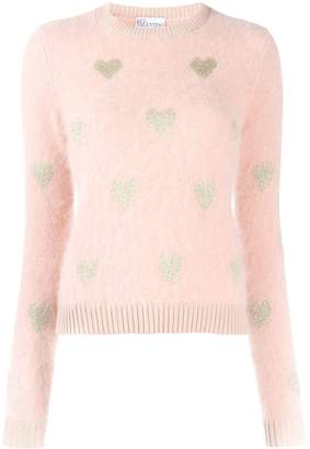 RED Valentino knitted heart sweater