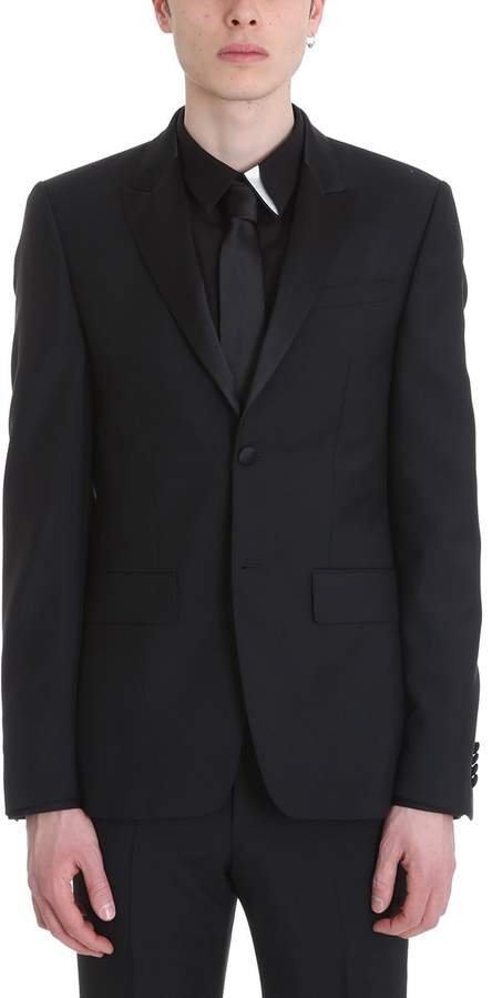 Givenchy Black Wool Suit