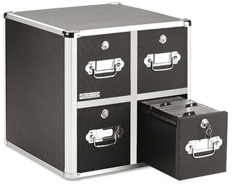 Rebrilliant CD File Cabinets Multimedia Library Style Media Drawers