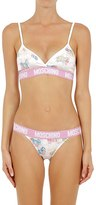 Moschino Little Pony Printed Bra & Briefs
