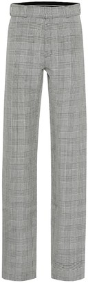 Vetements High-rise houndstooth wool pants