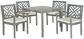 The Well Appointed House Grey 5 Piece Outdoor Dining Set